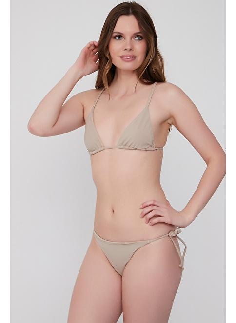 Plumeria Swimwear İpli Üçgen Bikini Vizon